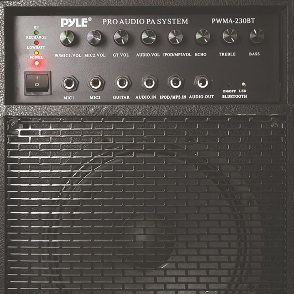 Pyle Pwma230bt Wireless Portable Bluetooth Pa Speaker