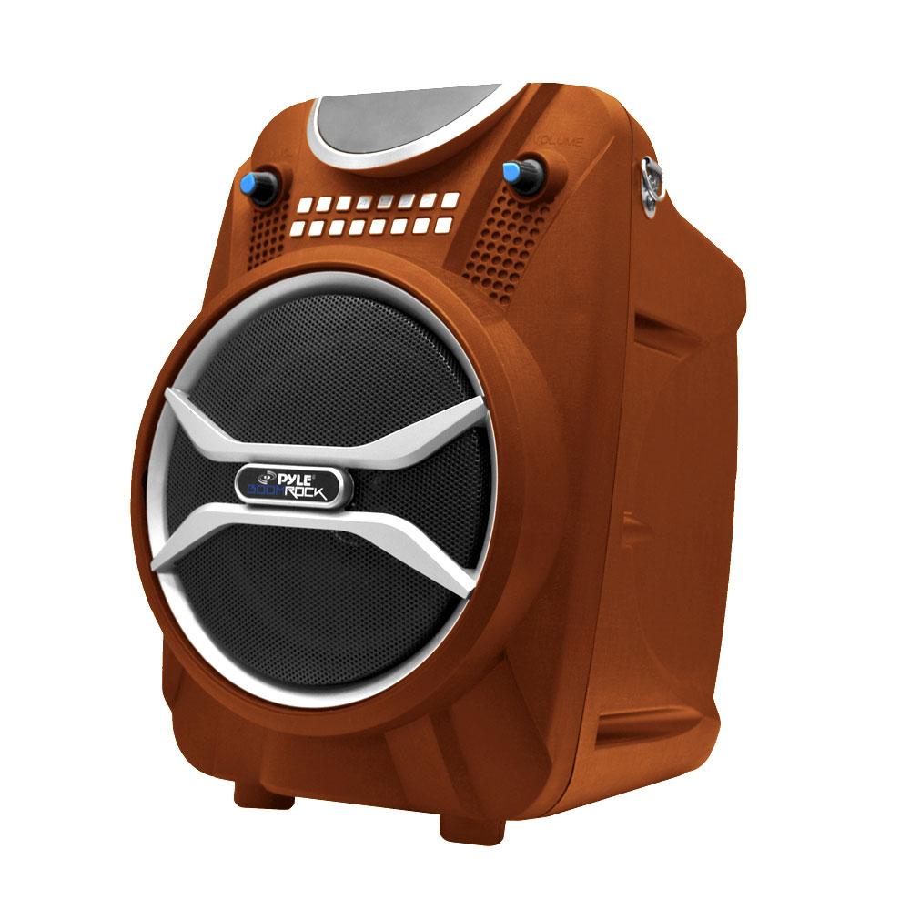pyle pwmab210or boom rock bluetooth karaoke speaker and recording system built in. Black Bedroom Furniture Sets. Home Design Ideas