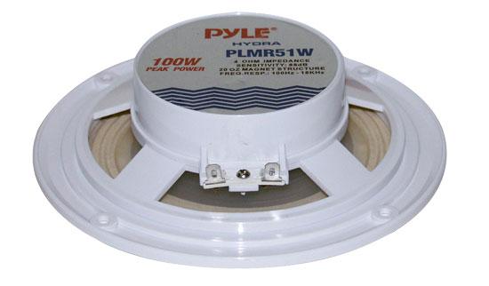 "New Pyle PLMR51W 100 Watts 5.25/"" 2 Way White Marine Speakers Lof of 8 Speakers"