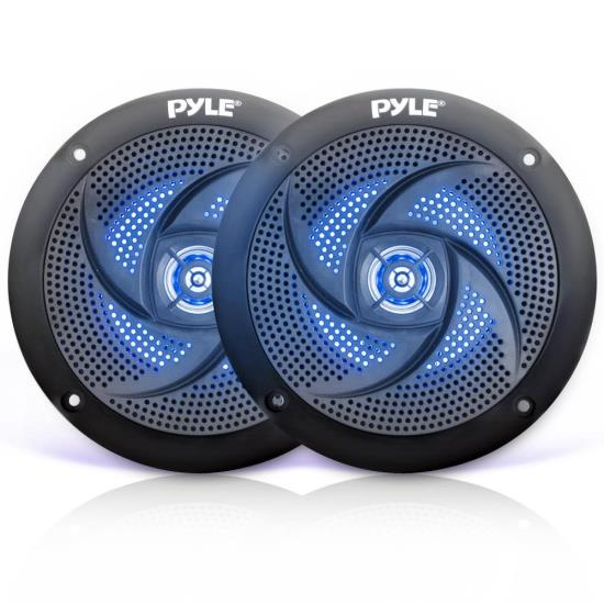 Lot of 8Pyle 6.5/'/' Marine Boat Waterproof Speakers MultiColor LED Light