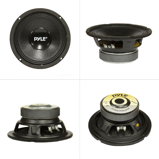 "Pyle PPA8 500W 8 Ohm Professional Premium PA 8/"" Woofers DJ Pro Audio 6 Lot of"
