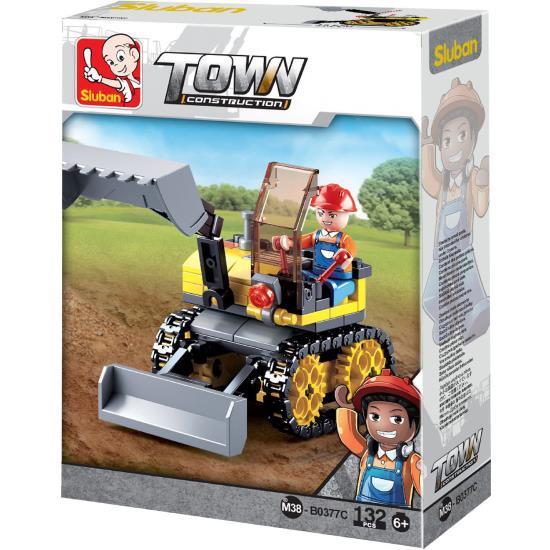 Sluban Kids Tractor Excavator Building Blocks 132 Pcs set Building Toy SLU08609