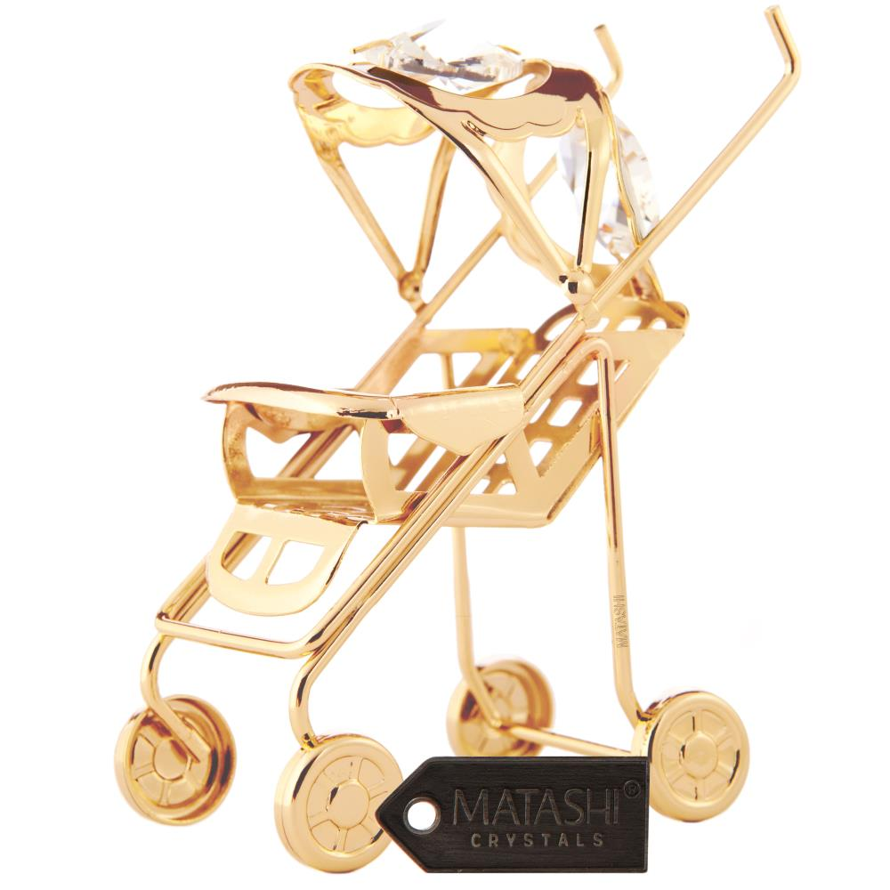 Matashi - CT0125N - 24K Gold Plated Crystal Studded Baby ...