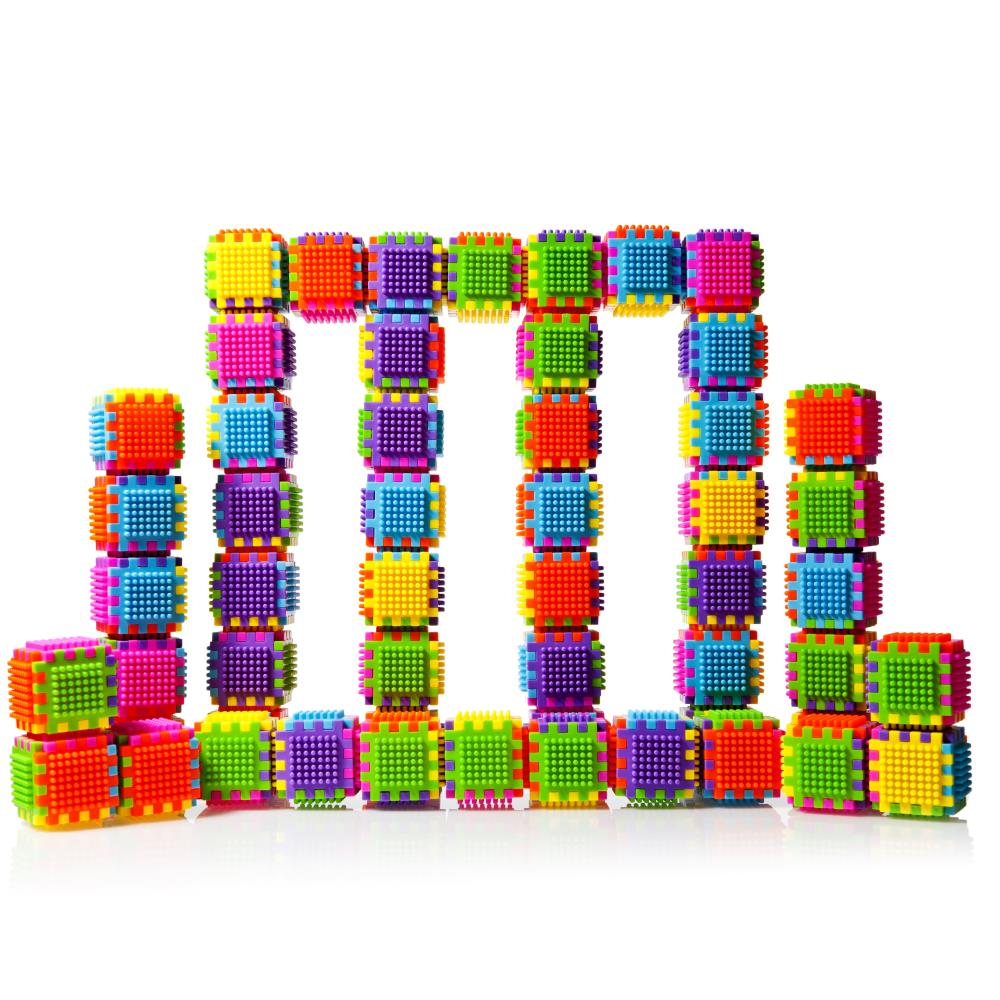 Large Construction Toys For Boys : Dimple dc set of large stacking bristle blocks